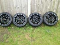 17 inch alloy wheels with tyres 120pcd will fit t5