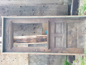 Solid wood door and frame