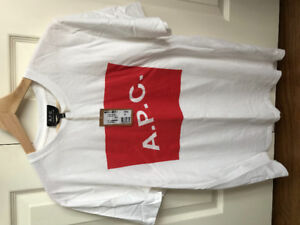 A.P.C. Red and White Box T-Shirt - Men's