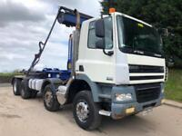 2010 10 DAF CF 85.360 euro 5 8x4 Boughton hookloader, sheet weigher