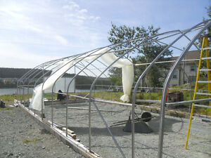 Greenhouse, commercial, 20x40 railing and doors