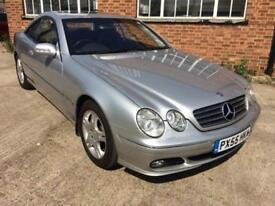 2005 Mercedes-Benz CL500 Silver/Black Hide Total Specification 82k Miles FSH