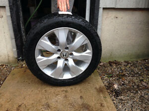 Winter tires with Aluminum rims