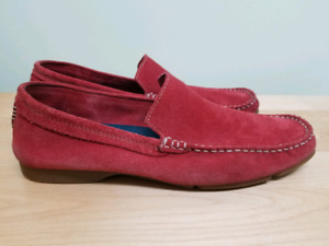 Aldo Suede Loafers, Red, Men's size 8