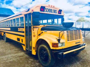 2 INTERNATIONAL BLUE BIRD SCHOOL BUSES BOTH FOR SALE!