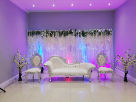 Asian Event Decor, Stages,Centrepieces, Chair Covers,Walkways