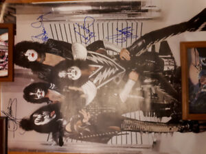 KISS Monster Tour Poster.  Signed by all 4 current members.