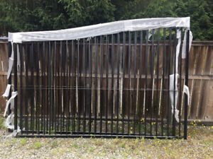 6-7 foot high x 20 foot opening double swing Driveway gates