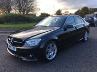 MERCEDES-BENZ C220 CDI AMG SPORT 2009 GENUINE MILEAGE GREAT LOOKING CAR!