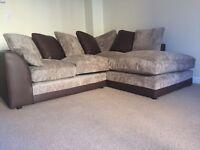 Small Brown/Beige corner sofa