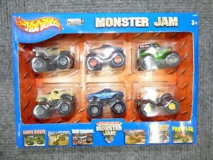 2004 Hot Wheels Monster Jam 6 Pack - BNIB - Rare Find!