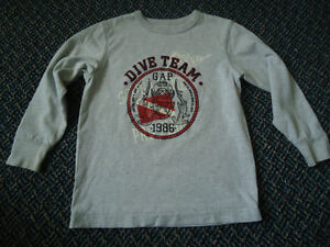 Boys Size 4/5 Long Sleeve Diver Cotton T-Shirt by GAP Kingston Kingston Area image 1
