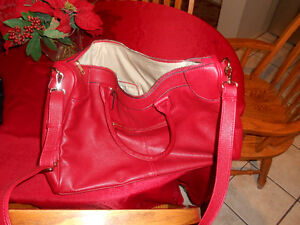 Large Red Leather Purse