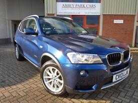 2013 (13) BMW X3 2.0TD ( 184bhp ) xDrive20d SE Auto - Blue - Diesel