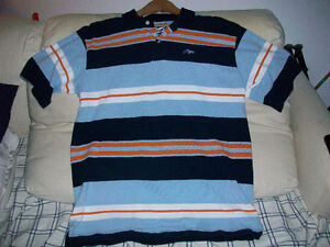 POLO STRIPED - NWOT - ADULTS MENS MEDIUM