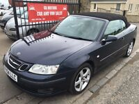 SAAB 9-3 VECTOR 150 BHP CONVERTIBLE (54) 73000 MILES, SERVICE HISTORY, WARRANTY, IMMACULATE £2495