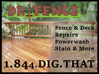 FENCE POST REPAIR - STAINING - POWER WASHING