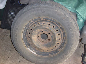 4 Winter tires on rims from a Dodge Caravan