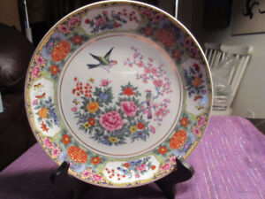 Beautiful vintage chinese plate -  very detailed, lovely colors