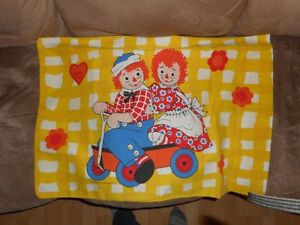 Vintage Raggedy Ann and Andy PILLOW CASE
