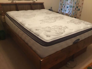 Queen Bed frame, with storage drawers