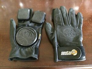 Sector 9 leather skate boarding gloves