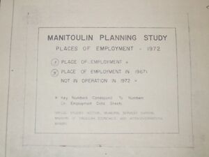 MANITOULIN ISLAND TOWNSHIP MAPS 1972 PLANNING STUDY London Ontario image 2