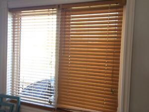 Two sets of mini blinds