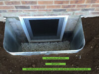 CUSTOM SIZE BASEMENT EGRESS FIRE ESCAPE WINDOWS INSTALLATION