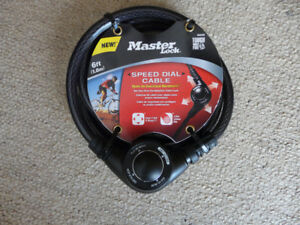 Brand New Master Lock 6' Set Your Own Combination Cable Lock