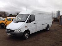Mercedes-Benz Sprinter, 413 CDI Twin Wheel, Down rated 3.5T and LEZ compliant,
