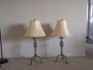 2 Table Lamps with Shades - Like new condition