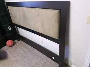 King Size Headboard Dark Brown & Dark Beige Very Good Condition