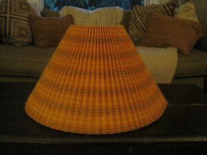 Vintage Retro Fabric Covered Pleated Lampshade Lamp Shade
