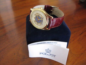 International Police Association Gold-Plated Poljot Wrist Watch