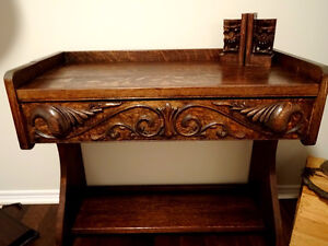"""late 1800s-early 19 Victorian 30"""" PARLOUR TABLE Wicker Seagrass Cambridge Kitchener Area image 6"""
