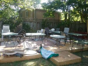 Patio Tables, Chairs for Sale or Rent
