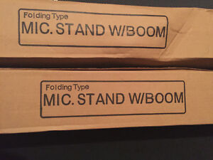 Pair of New in Box Mic Stands