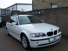 04 54 BMW 316I 1.8 16V SE TOURING ESTATE 5DR WHITE MOT FEB 18 ALLOYS AIRCON