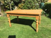 Attractive Pine Kitchen Table ..5ft ...2 drawers