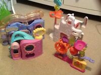 Bundle of littlest pet shop playsets, 4 playsets!