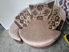 Sofa set and swirl chair