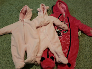 0-6m perfect condition snow suits