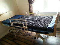 hospital bed,with remote