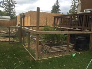 Raised garden and animal fence for sale