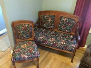 Antique Sette and Chair