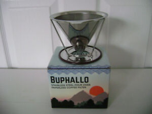 "Stainless Steel Pour Over Cone Coffee Dripper by ""Buphallo"""