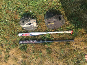 Softball Gear (prices listed)