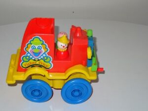 Ancien Jouet Fisher Price Crazy Clown Fire Brigade 1983