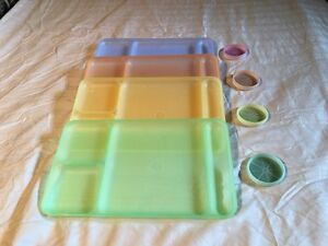 Tupperware Pastel Serving Trays w/coasters